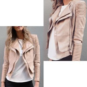 White Fox Boutique Jackets & Coats - ➳ Ivory & Chain Nude Bessy Biker Jacket